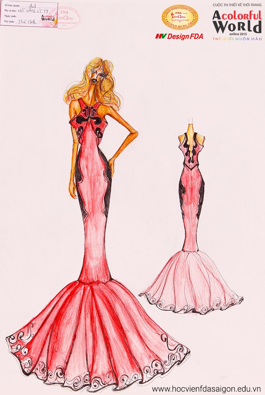Bài thi thiết kế thời trang của Hồ Văn Út Ty