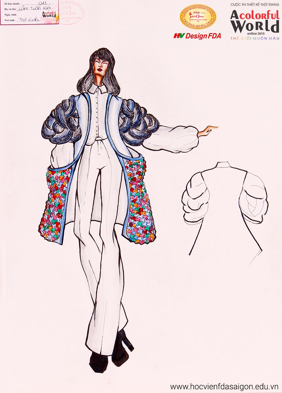 Bài thi thiết kế thời trang của Lâm Tuấn Kiệt