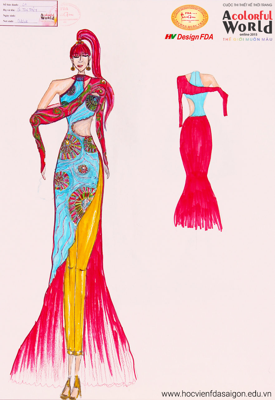 Bài thi thiết kế thời trang của Lê Thị Thủy