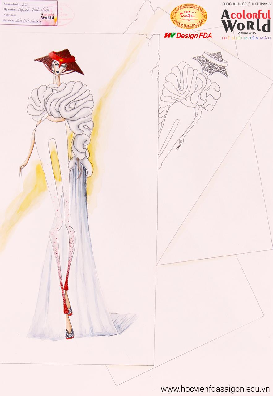 Bài thi thiết kế thời trang của Nguyễn Đình Thuận