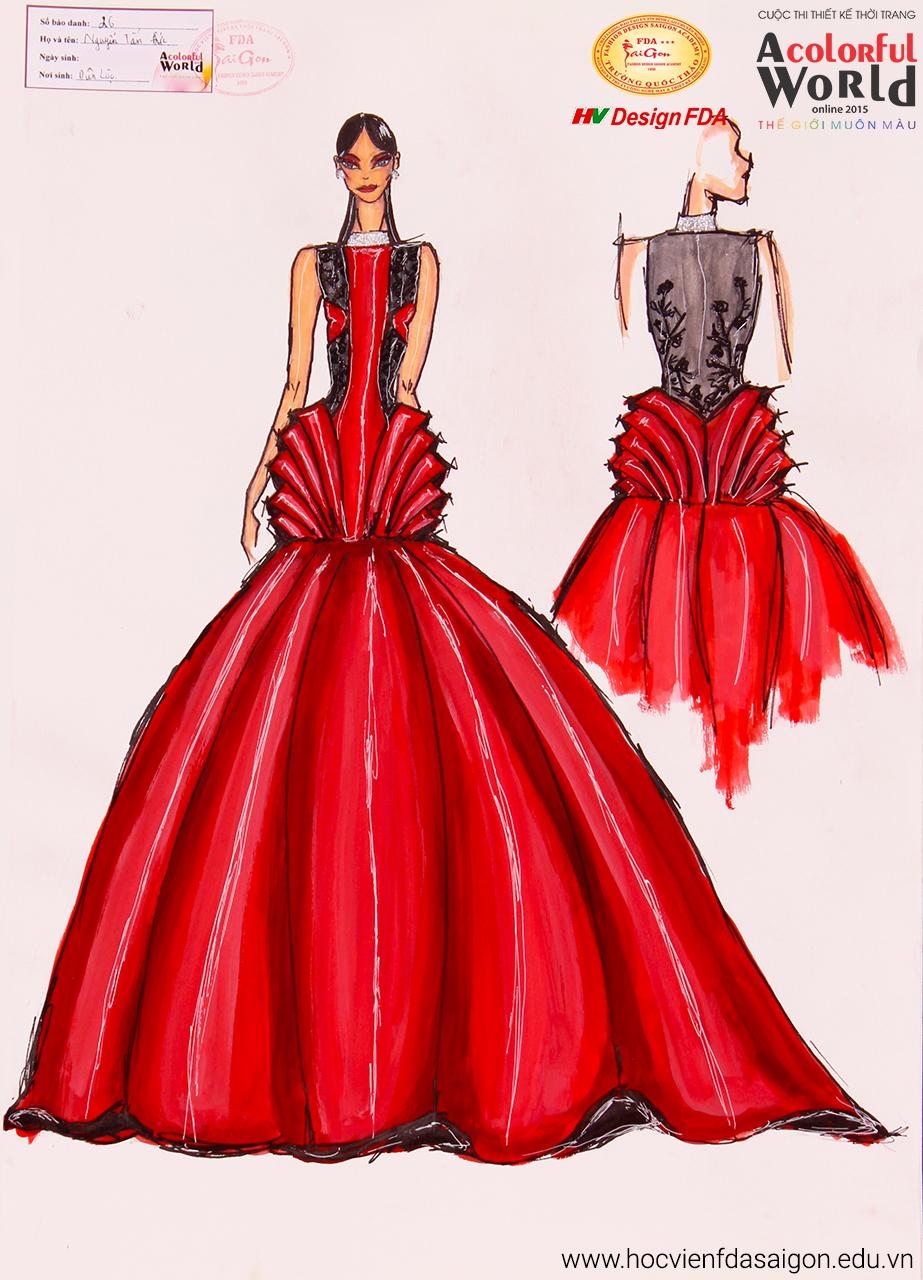 Bài thi thiết kế thời trang của Nguyễn Tấn Đức