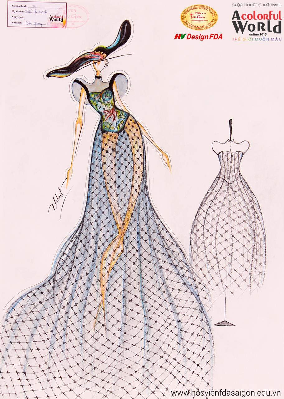 Bài thi thiết kế thời trang của Trần Thị Hạnh