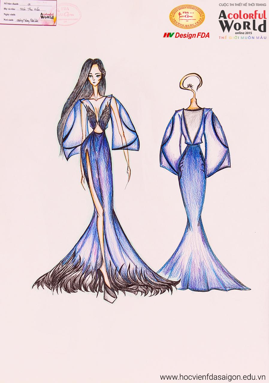 Bài thi thiết kế thời trang của Trần Thu Hiền