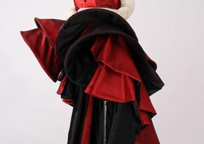 Haute couture fashion draping