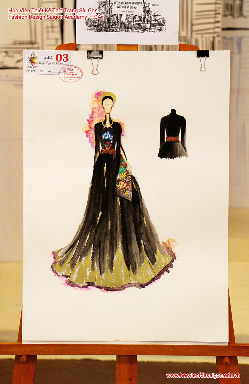 Bản vẽ phác thảo thời trang của thí sinh Nguyễn Ngọc Minh Châu đến từ Hải Phòng