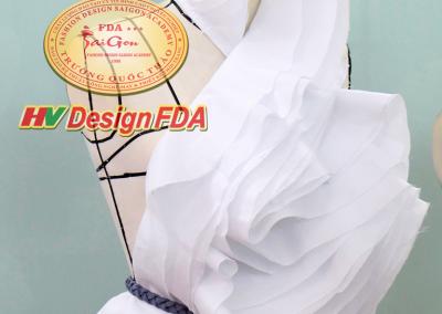 Fashion draping dress